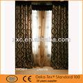 un conjunto de cortina de la ventana con pura interior y exterior de jacquard cortina confeccionada