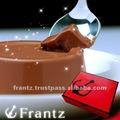 Mousse de Chocolate com perfumado cacau em uma bolsa