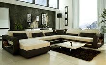 French design sofa Large Size U-shaped genuine leather Corner Sofa Best turkish style furniture 9119