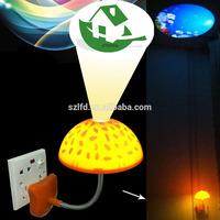 Romantic Mushroom table lamp,Hot sale led bedroom night lamp mushroom night light