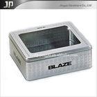 hot sale perfume tin box with clear window
