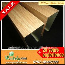 Aluminum wood effect thermal transfer finish powder coating
