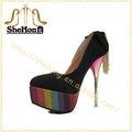 sexy nude scarpe da sera donna 16 cm scarpe tacchi alti