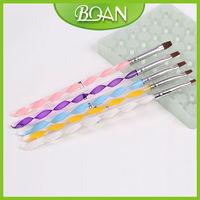 5 Pcs Colorful Acrylic Handle Bio Sculpture Nail Brush UV Gel Set