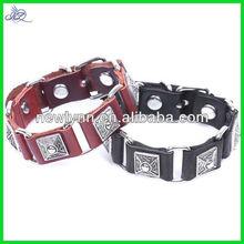 Magazzino in design della moda cinturino in pelle quadrato- a forma di fibbia in lega rivetto braccialetto braccialetto retro