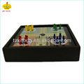 людо совета игры с деревянной коробкой и 4 цвета шахматных фигур
