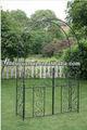 Exterior de hierro forjado jardín arco con plantador de la flor