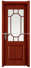 Simple Serie Wood Interior Door/Solid Wooden Paint Door MJ-209 With Ground Glass