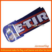 custom advertising print silk satin scarf