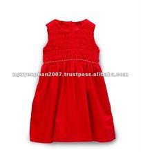 Red Smocked Baby Girls Dress - Infant, Toddler & Girls
