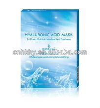 piccole molecole ad alto ingrandimento fibroina di collagene maschera sbiancante umidità maschera facciale