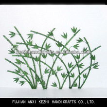 green leaf wall art iron decoration