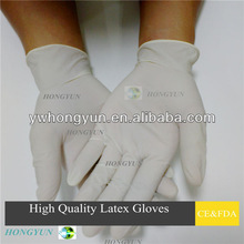 Disposable latex gloves for dental/medical/industrial use