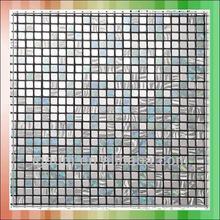 hexagon metal mosaic tile wall decoration