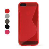Tpu Bumper With S Line Back Cover Case for Apple iPhone 4 4S 5 5S Mobile Accessories Laudtec