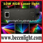 10W RGB Full Color Animation Laser Lighting 10000mW ILDA big dipper laser light