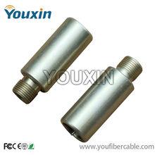 CATV aluminium /brass F port locking terminator