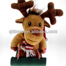 dancing singing animal toy,plush reindeer rock toy