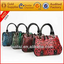 2013 designed wholesal fashion high quality pu leather ladies handbag for mature women