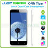 5inch china 3g smartphone1920x1080 onn tiger with android 4.2 1gb rom 16gb ram quad core mtk6589 t gps wifi bluetooth