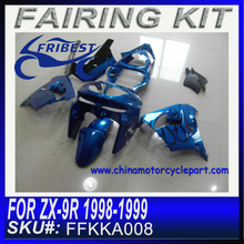 zx9r Fairing Kits ZX-9R 1998-1999 BLUE BLACK FLAME FAIRING KIT FFKKA008