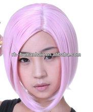 Pink purple cosplay hair wigs human hair wigs