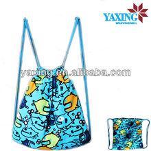 Microfiber printed stripe wholesale beach towel bag