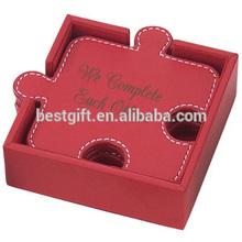 puzzle shape coasters, glass coasters wedding favors