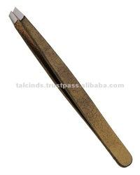 Eyebrow Plucking Tweezer 9.5cm, Slanted Tip,Coloured