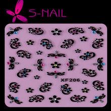 2014 hot sell beautiful resin rhinestones 3D nail sticker, nail decoration