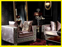 Luxury French Baroque Living Room Sofa Set/Royal Palace Hand Carved Sofa/European Antique Castle Style Exquisite Sofa
