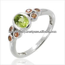 Women's Simple Design Rhodium Plated Silver Rings Jewelry