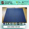 Factory wholesale marine rubber mat 1M * 1M * 16MM, boat deck rubber mat