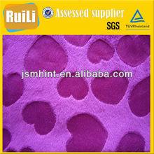 brushed microfiber short pile fleece fabric