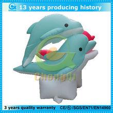 cute cartoon pvc inflatable dolphin