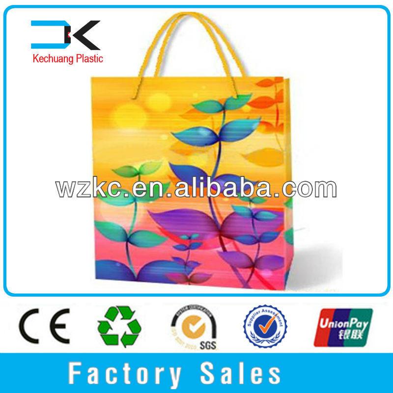PP Plastic New design Shopping recycled plastic bottle tote bag