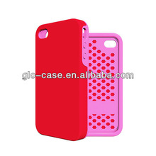 Colorful free collocation hybrid plastic and TPU back cover cases for iPhone 4 4S perfect protection