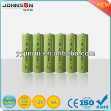 AA 2500mah 1.2v nimh rechargeable battery