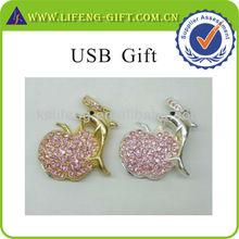 Custom fashion jewelry USB for New Year Gift