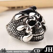 Wholesale Stainless Stell Men Skull Titanium Expendabale Men's Ring