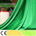 Mulinsen textil de punto de poliéster de color verde brillante teñido de tela del forro venta al por mayor, forro de tela para el bolso