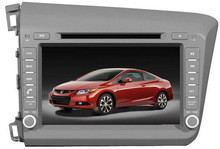 8 inch 2din with Digital TV/Map SD card/Rear-view Camera/GPS car dvd player for CD-H012 HONDA CIVIC left driving 2012