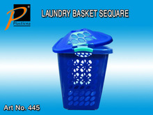 Plastic Laundry Basket with Cover