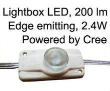 display case led lights, 12v 2.4Watt Cree edge emitting LED Internal illumination to box signs, C/UL approved