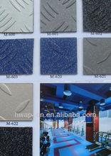 Anaglyph PVC flooring/Carving PVC tile/Metalized Garage Tile