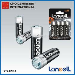 LONCELL high power AM-3 LR6 1.5V AA alkaline dry battery