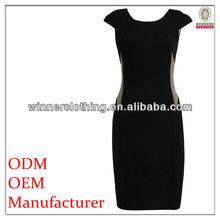 formal/office slinky black corporate dresses for ladies