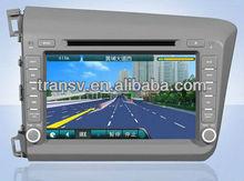 Built-in GPS car dvd player for CD-H012 HONDA CIVIC left driving 2012
