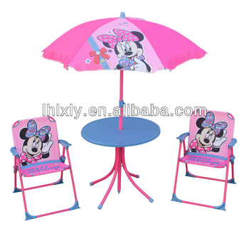 Minnie kids patio set kids outdoor furniture table and