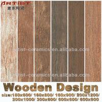[Artist Ceramics] wooden floor tiles standard size/wood look glazed wall tile/wooden tiles 3d inkjet 300X600/600x600/800x800